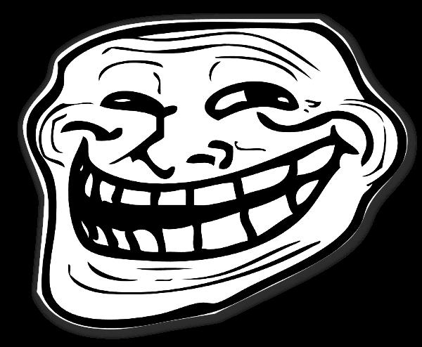 Meme Troll klistermärke sticker