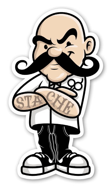 Stache sticker