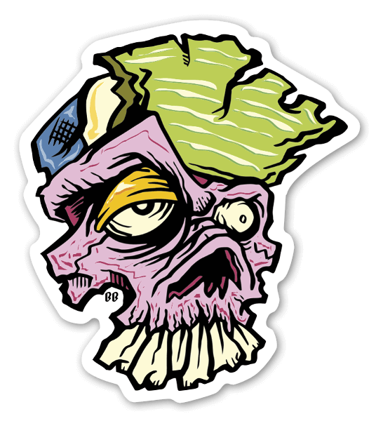 Bobby wicked skull stickers labels decals