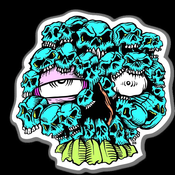 Bobby Skull Mixxer sticker