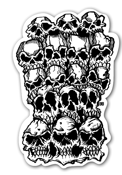 Bobby Skull Crunch stickers labels decals