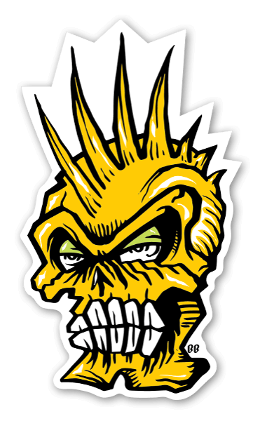 Bobby Yellow Skull Sticker