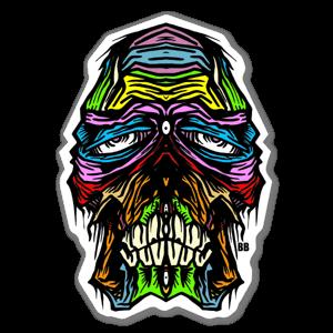 Bobby Skull face Sticker