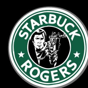 Starbuck Rogers sticker
