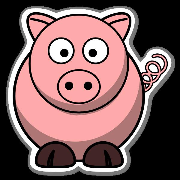 Cochon rose sticker