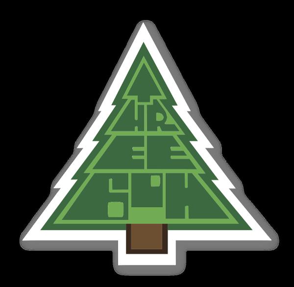 Juletræ sticker