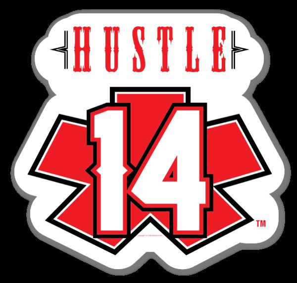 sSortlistet HustleRed sticker