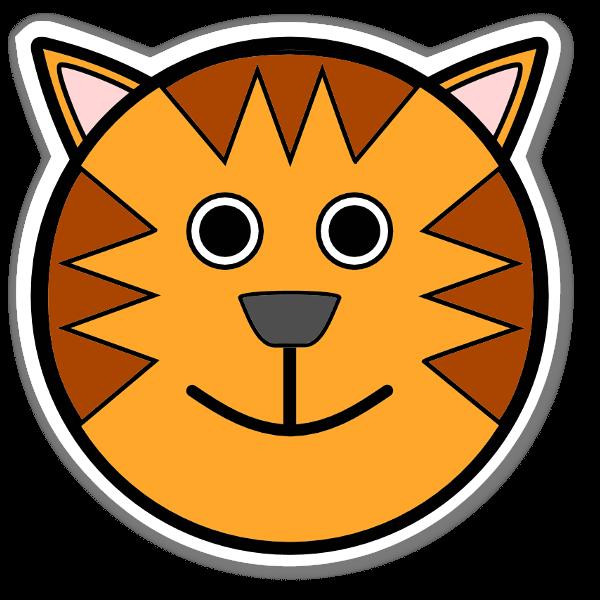 Tiger Klistremerker