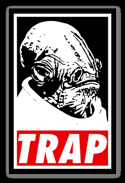 Ackbars trap sticker black