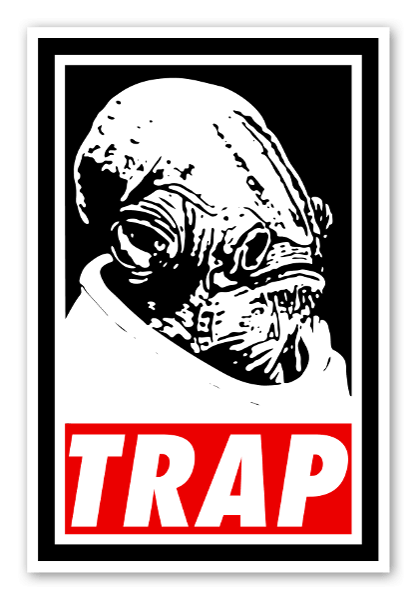 Ackbars trap sticker