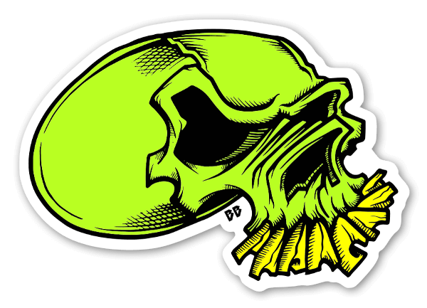 Sticker skull by bobby brown