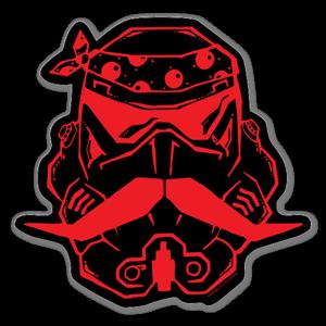 Rød Robot Klistremerker