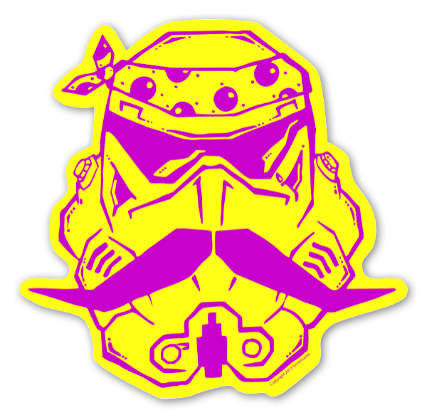 Trooper Tear Lilla sticker
