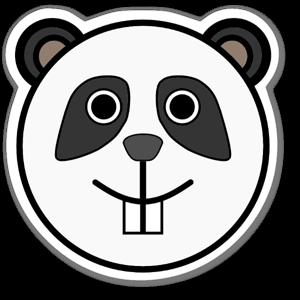 Panda Klistremerker