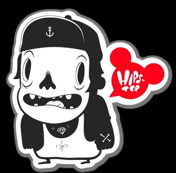 Cote escriva hipster sticker