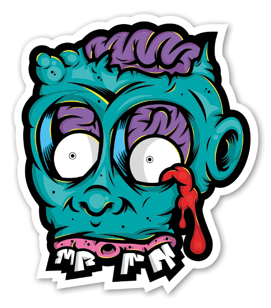 Drippy zombie sticker