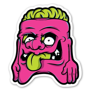 Baker Dangerbrain Weird Dude sticker