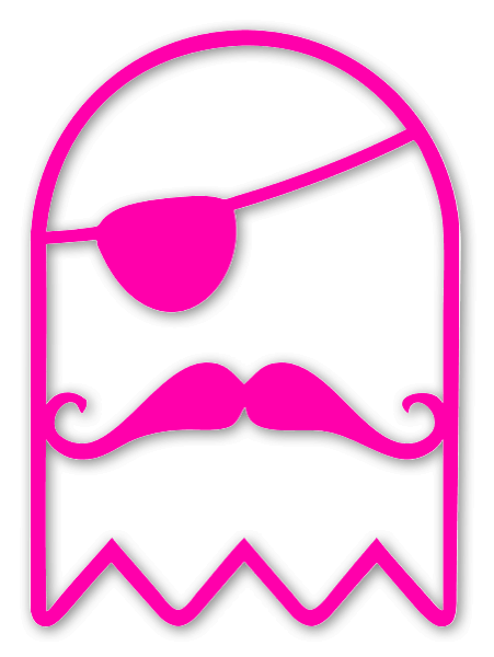 The Pirate Ghost pink die sticker