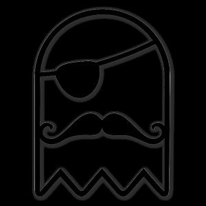 The Pirate Ghost black die sticker