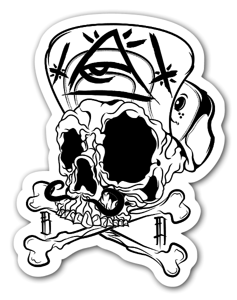 Bonesman sticker