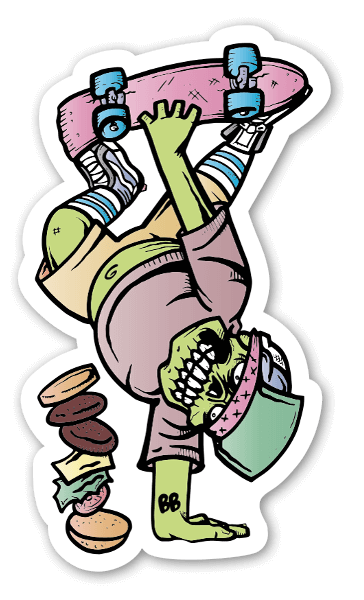 skateboarding sticker