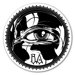 Black Agenda Eye sticker