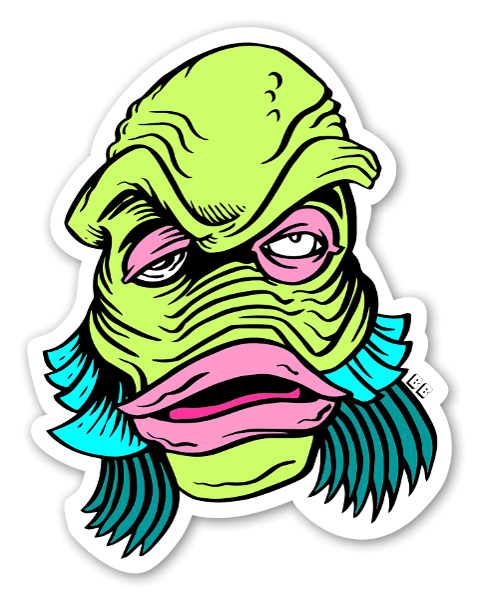 Bobby swamp thing custom stickers labels decals