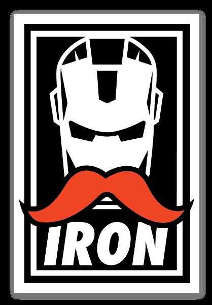 IRON STACHE PROPAGANDA sticker
