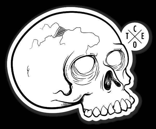 Hvit hodeskalle klistremerker