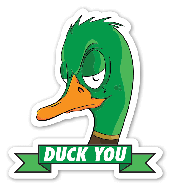 Duck You Coldestone sticker