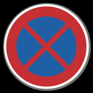 Forbudsskilt Stans forbudt sticker