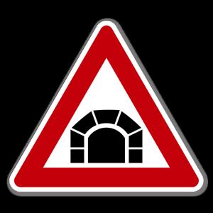 Fareskilt Tunnel dekaler sticker