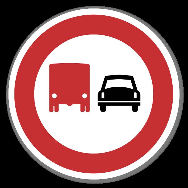 Forbudsskilt ikke forbikjøring dekaler sticker