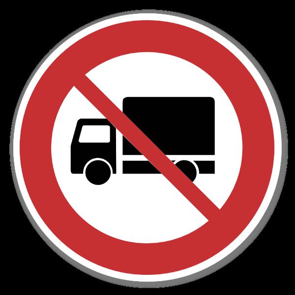Forbudsskilt Forbud lastebil sticker