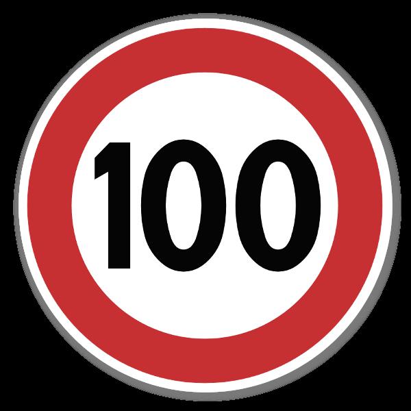 Forbudsskilt Fartsgrense sticker