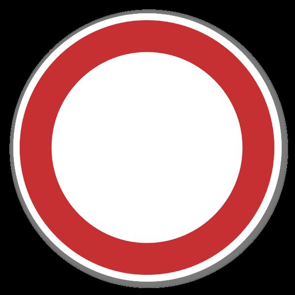 Forbudt for alle kjøretøy klistremerker sticker