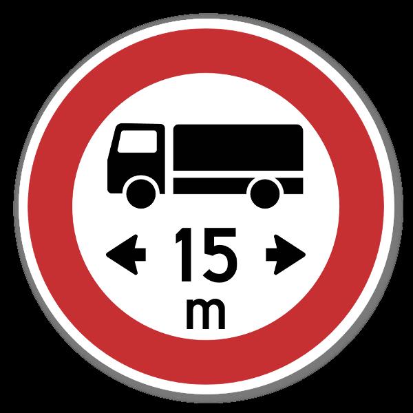 Forbudsskilt Lengdegrense dekaler sticker