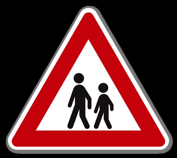 Fareskilt Barn Klistremerke sticker