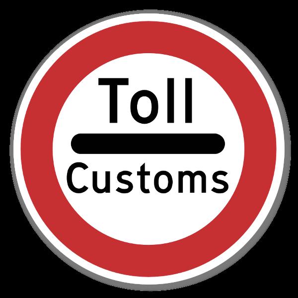 Forbudsskilt Stopp for toll sticker