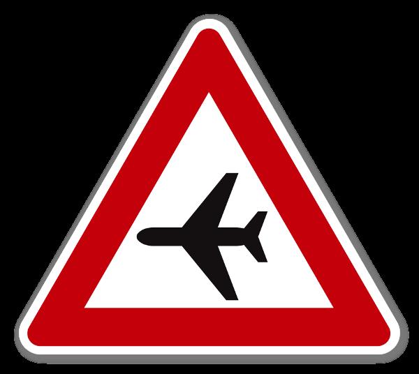 Fareskilt Fly klistremerke sticker
