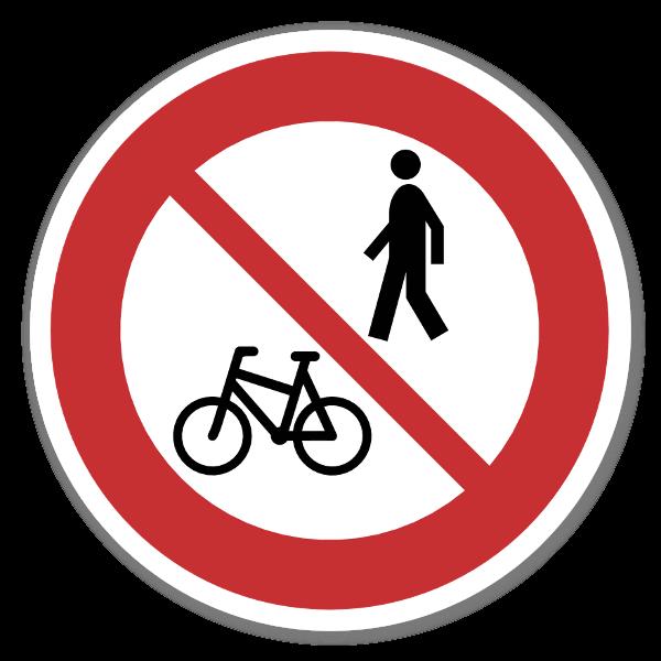 Forbudsskilt Forbudt for gående og syklende dekal sticker