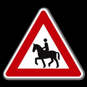 Fareskilt Ridende klistremerke sticker