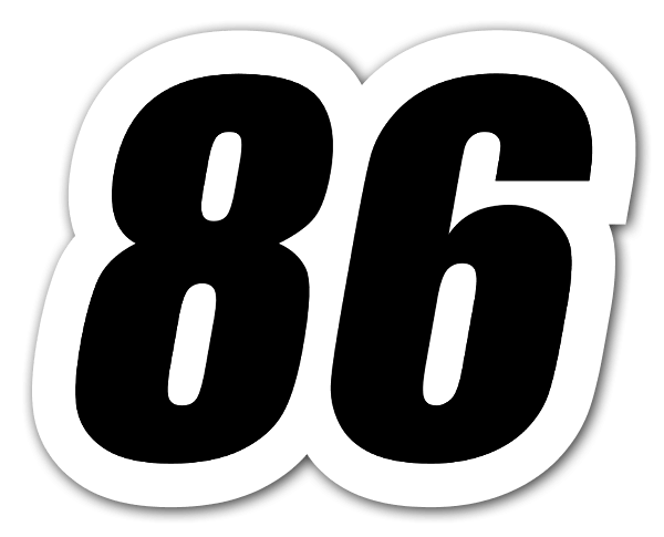 Racing 86 sticker