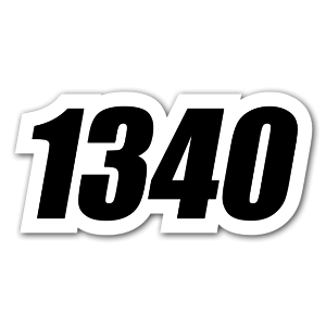 Race 1340 sticker