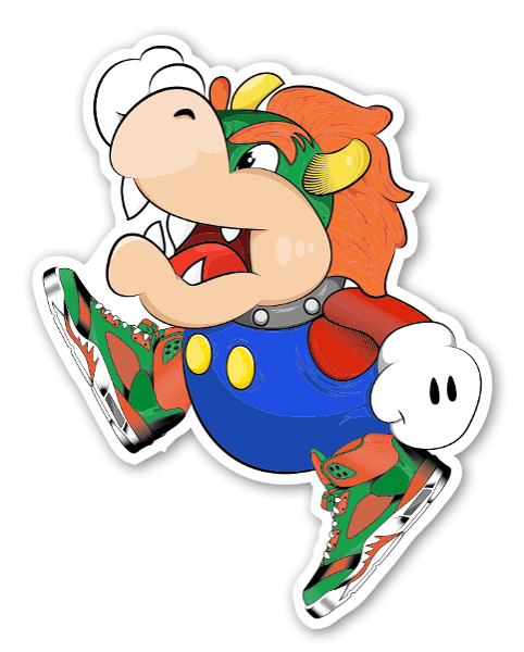 Coldestone Bowser Jordan V sticker