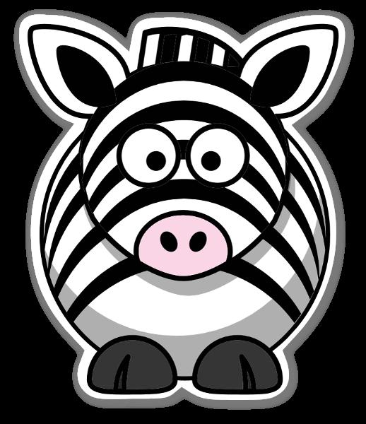 Zebra Klistremerker