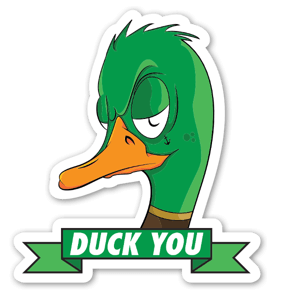 Duck you klistremerker