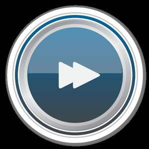 Fast Forward Button Sticker