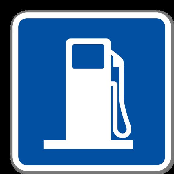 Gas sign  sticker