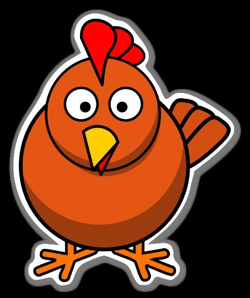 Poule sticker